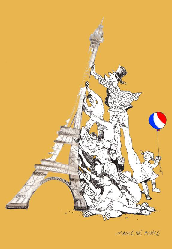 CRNI Blog — Marlene Pohle: My solidarity with the victims of Paris  CARTOONI...