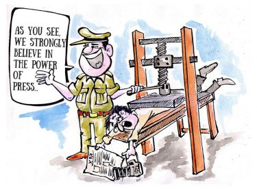 Aseem Trivedi cartoon in support of Basta's beleagured press