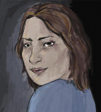 Majda Shaheen (self-portrait