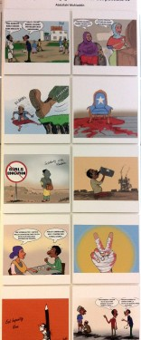 "Cartoons by Abdul ""Arts"", from Somalia (click to enlarge)"