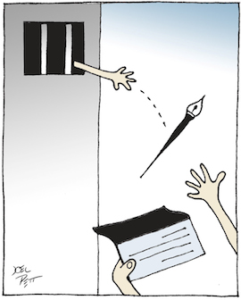 Cartoon by Joel Pett