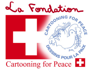 Musa Kart thanks Swiss Foundation Cartooning for Peace for