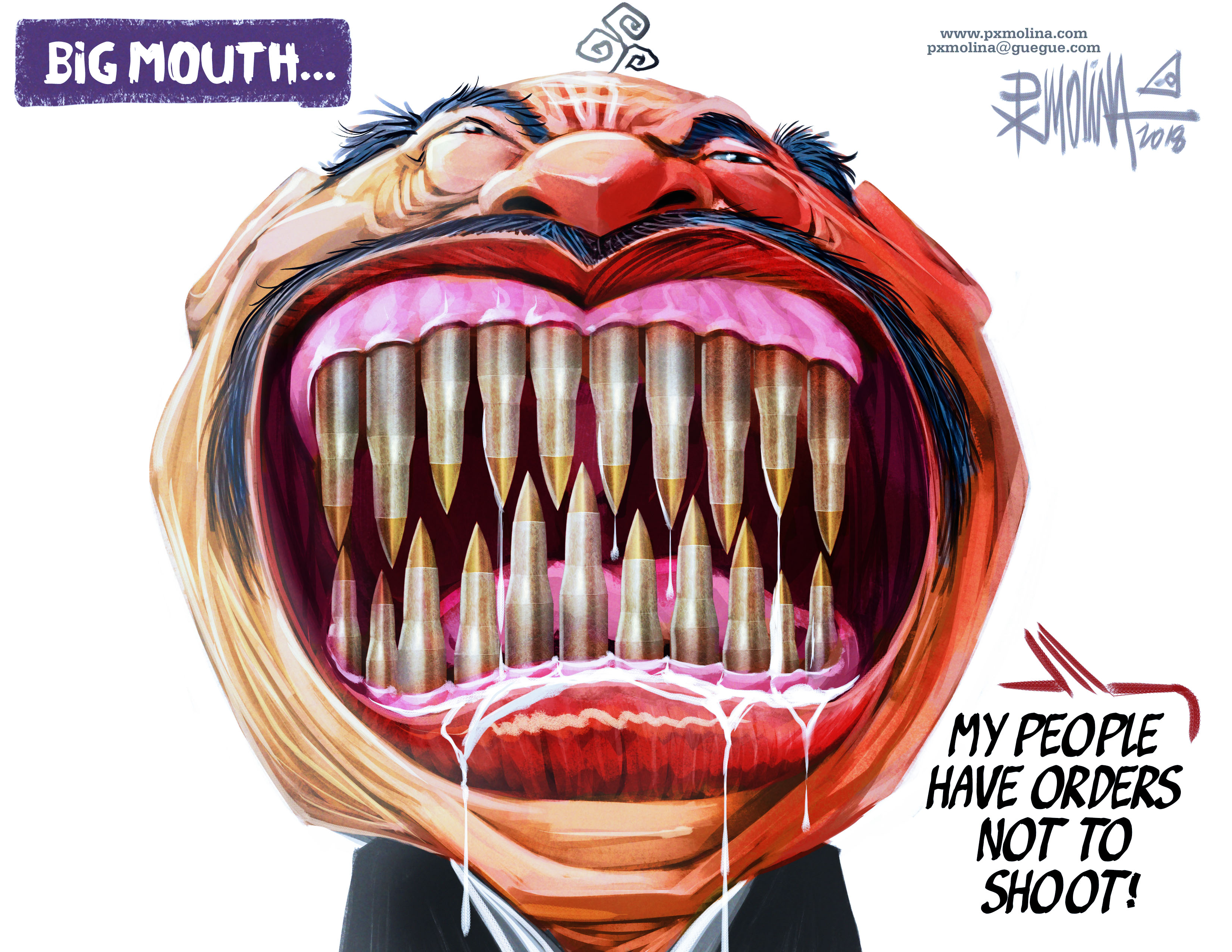 Molina cartoon big mouth