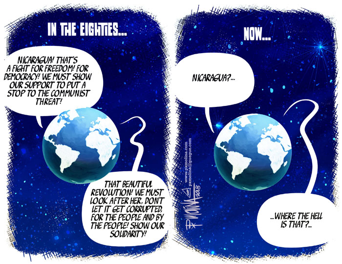 Molina cartoon globe