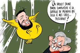 "French cartoonist told ""you're lucky you're not executed""."
