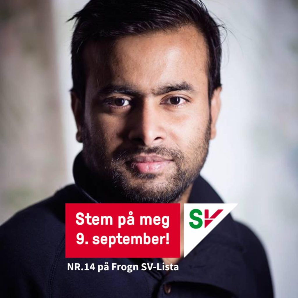 Arifur Rahman, election candidate, Frogn, Norway 2019