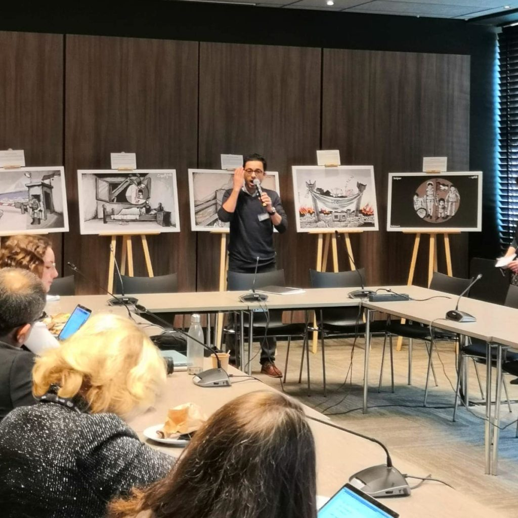 Mohammad Saba'aneh at the ICC, the Netherlands, December 2019